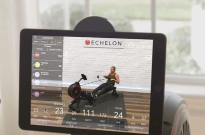 an example echelon rower workout